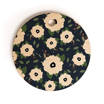 Allyson Johnson Floral Class Cutting Board Round