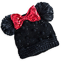 Minnie Mouse Knitted Ear Hat for Girls