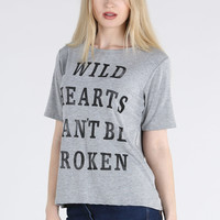 Wild Hearts Casual Tee - Womens Clothing Sale, Womens Fashion, Cheap Clothes Online | Miss Rebel
