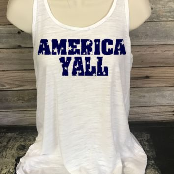 America Y'all Racerback Tank (youth-adult )