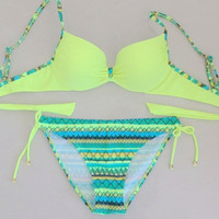 2015 Mix-color Swimwear Bikini Set