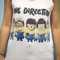 One Direction 1D UK Boy Band Shirt Tank Top Tanktop Tshirt T Shirt Women Size M,L,XL