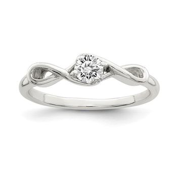 Sterling Silver Infinity CZ Promise Ring