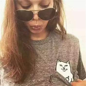 Cat Gray T Shirt