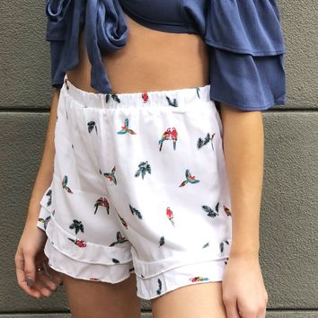 """""""You and Your Parrot"""" Shorts"""