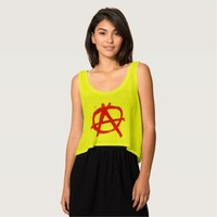 Grungy Red Anarchy Symbol Tank Top