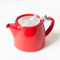 Stump Teapot Red