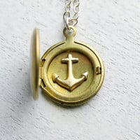 Personalized Locket with Anchor