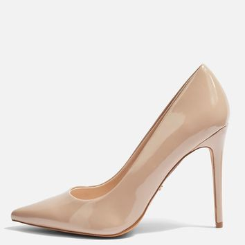 **WIDE FIT Grammer Heel Court Shoes | Topshop