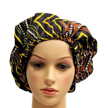 Women's African Inspired Silk Hair Bonnet