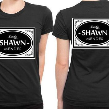 DCCKG72 Shawn Mendes Lucky Shawn Mendes Retro Style B 2 Sided Womens T Shirt