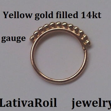 Septum ring,Nose ring,Tragus ring, Cartilage ring,Helix ring,Earring,Solid Gold 14k & 9k,Yellow Gold filled,Rose gold filled,Silver
