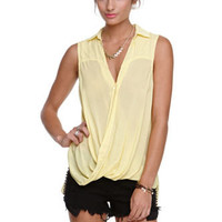Nameless Sleeveless Wrap Blouse at PacSun.com