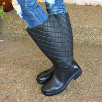 Singing In The Rain Boots: Black