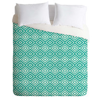Lisa Argyropoulos Diamonds Are Forever Aquatic Duvet Cover