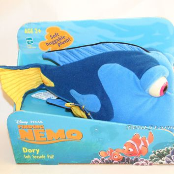 "Licensed cool 10"" Finding Nemo DORY BLUE TANG FISH Plush STUFFED TOY Disney Pixar 2003 in Box"