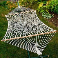 Cotton Rope 2 Person Hammock | Outdoor and Patio Furniture| Furniture | World Market