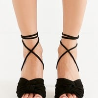 Charlotte Stone Melle Black Ankle Wrap Heel | Urban Outfitters Canada