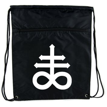 Crux Satanus Leviathan Cinch Bag Drawstring Backpack Occult Black Sulphur