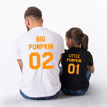 Pumpkin shirt, Family Pumpkin Shirts, Big Pumpkin Little Pumpkin, Pumpkin t-shirts, Mommy daddy baby pumpkin, UNISEX