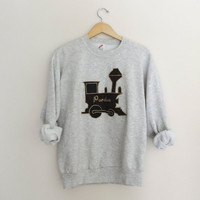 Vintage Purdue Train Crewneck Sweatshirt // by WildKardVintage