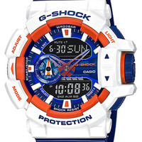 Casio G-Shock Limited Rotary Anti-Magnetic Watch - White, Orange & Blue