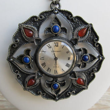 COROCRAFT 17 Jewel Mechanical Necklace Watch
