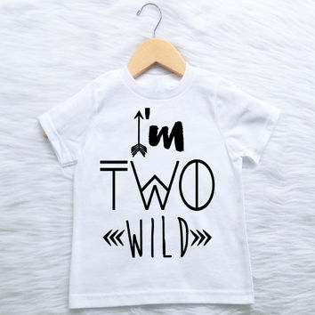 Im Two Wild CUSTOMIZABLE COLORS Boys Second 2nd Birthday Shirt Boho One 2