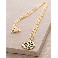 Brass Om Necklace