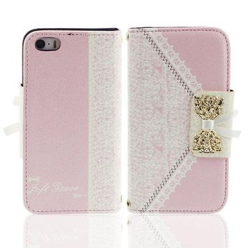 Fashion Cute Flip Wallet Leather Case Cover for iPhone 5 5S 5th