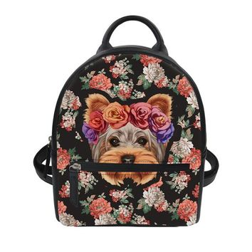 Cool Backpack school Coloranimal Schnauzer Puppy Designer Women Men Mini Backpack 3D Cool Bulldog Print Luxury PU Leather Dailypack Teenager Girl Bag AT_52_3
