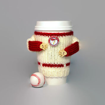 St.Louis Cardinals coffee cozy. MLB shirt. Baseball gift. Ice coffee sleeve. Coffee warmer. Travel mug cozy Mug sweater Starbucks cup