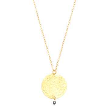 Gurhan Women's Gold Disc & Diamond Pendant Necklace - Gold