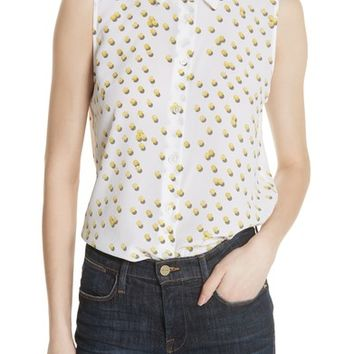 Equipment Colleen Tennis Ball Sleeveless Silk Blouse | Nordstrom