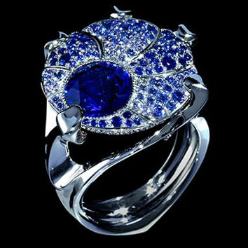 """Mousson Atelier Cosmos Collection """"UFO"""" Sapphire Ring R0038-0/6"""