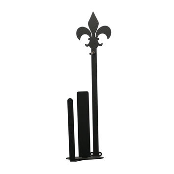 Fleur-de-lis - Paper Towel Holder Holder Vertical Wall Mount