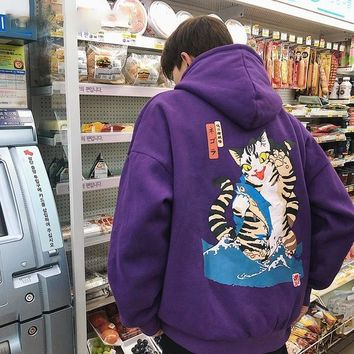 Japanese Style Thick Men Hip Hop Hoodie