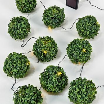 10 Topiary Ball Solar Lights - Matalan