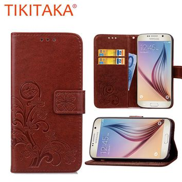 For Samsung Galaxy S6 S6 Edge Case Cover Luxury Wallet Flip Phone bags With Card Slots For Samsung Galaxy S6 G9200 Coque Fundas