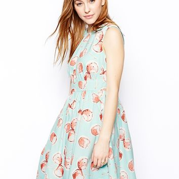 Emily & Fin Lucy Dress in Cherry Print