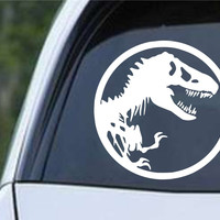 Dinosaur Bones Silhouette Die Cut Vinyl Decal Sticker
