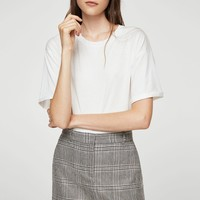 Prince of wales wool-blend skirt - Women | MANGO USA