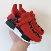 Pharrell x adidas NMD Human Race Red Black Toddler Kid Shoes Child Sneakers - Best Deal Online