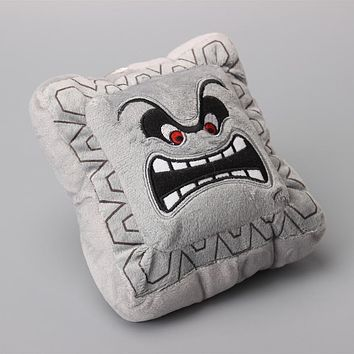 "Super Mario Bros Thwomp Dossun Character Mini Pillow Plush Toy Cushion Doll Children Gift 6"" 15 CM"