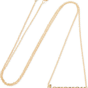 Jennifer Meyer - Love You 18-karat gold necklace