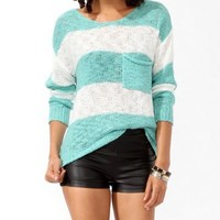 Striped Drop Shoulder Sweater