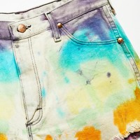 Free People Vintage 1970s Tie Dye Cut Offs
