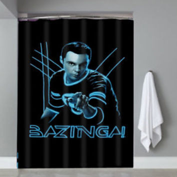 Top Famous Bazinga Big Bang Theory Custom Shower Curtain Limited Edition
