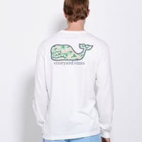 Men's T-Shirts: Long-Sleeve Camo Whale Graphic Pocket T-Shirt for Men - Vineyard Vines