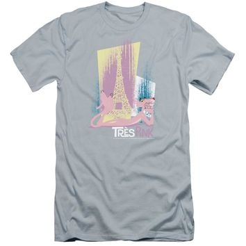 Pink Panther - Tres Pink Premium Canvas Adult Slim Fit 30/1 Shirt Officially Licensed T-Shirt
